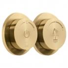 Moduł termostatyczny 2-drożny (prysznicowy) z dwiema jednostkami sterującymi - INDIVIDUAL by VADO - Złoto Szczotkowane