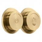 Moduł termostatyczny 2-drożny (wannowo-prysznicowy) z dwiema jednostkami sterującymi - INDIVIDUAL by VADO - Złoto Szczotkowane